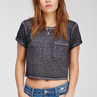 Boxy Heathered Top