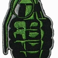 Hand Grenade Embroidered Iron On Applique Patch
