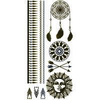 Dreamcatcher Metallic Temporary Tattoos Gold One Size For Women 25685262101