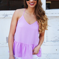 Brightest Color Babydoll Tank {Purple}: Buddy Love