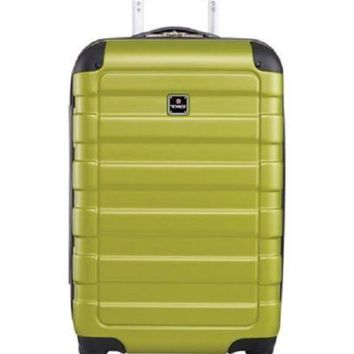 $240 Tag Matrix 20'' Hard Green Carry On Spinner Travel Suitcase Luggage Green