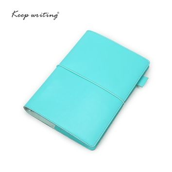 A5 Organizer notebooks and journals agenda Dotted pages lined Blank Grid Paper PU Leather Stationery For Students white-collar