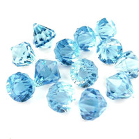 Acrylic Crystal Hanging Decor, 1-inch, 100-piece, Light Blue