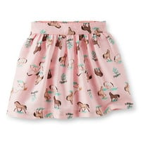 Sateen Print Skirt