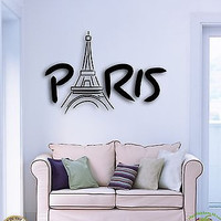 Wall Stickers Vinyl Decal Paris Eiffel Tower France Europe Cool Decor (z1586)