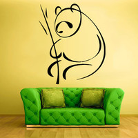 Wall Vinyl Sticker Decals Decor Art Bedroom Flowers Panda Bear Animal Bamboo (z711)