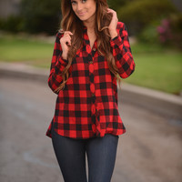 Checkmate Flannel - Red/Black