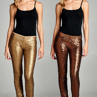 Faith In Fashion Sequins Leggings