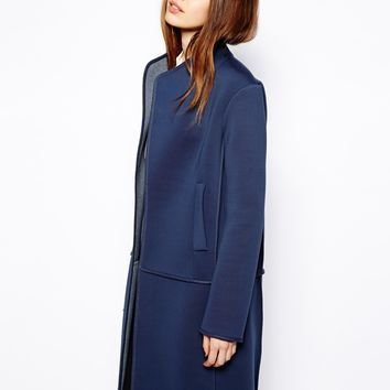 ASOS Bonded Coat With Exposed Seams