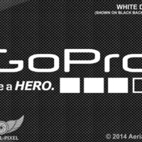GoPro Be a HERO Window / Case / Laptop Decal Sticker - White, Black or Red 3+ 4