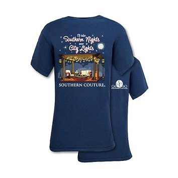 Southern Couture Preppy Southern Nights Comfort Colors T-Shirt