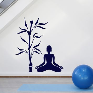 Wall Stickers Vinyl Decal Buddha And Tree Religion Decor Zen Meditation Unique Gift (z2057)