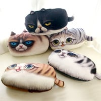 Realistic Cat Pillow Baby Toys Stuffed Throw Pillow Cushion for Kids Baby Bedroom Decration