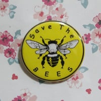 "Save The Bees 1.25"" pinback button"