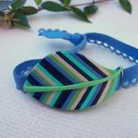 Polymer Clay embellished Hair Tie - ponytail holder