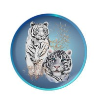 Two White  Tigers Plate from Zazzle.com