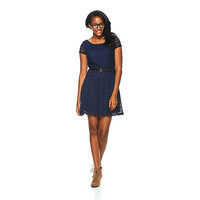Juniors Trixxi Cap Sleeve Crochet Skater Dress | Boscov's