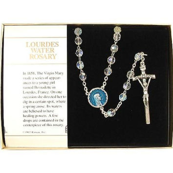 2 Rosary Beads Sets - Clear Crystal