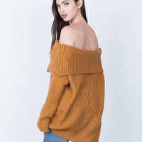 Chunky Off-the-Shoulder Sweater
