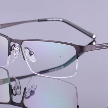 KESMALL Optical Glasses Frame Women Men Fashion Myopia Eyeglasses Half Frames Retro Oculos De Grau Male Alloy Eyewear YJ1010