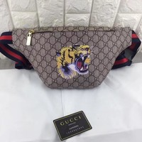 GUCCI HOT STYLE LEATHER WAIST PACK BAG CROSS BODY BAG