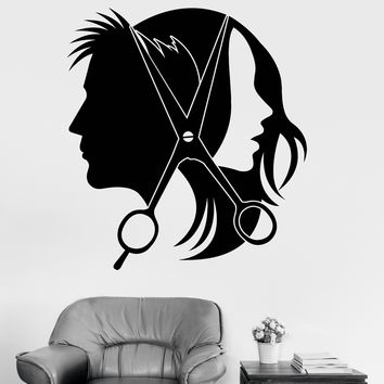 Vinyl Wall Decal Hairdresser Stylist Hair Salon Unisex Stickers Mural Unique Gift (ig3677)