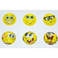 Spongebob Squarepants Home Button Sticker for Iphone 4g/4s Ipad2 Ipod Ib043k with Free Screen Protector