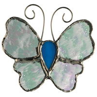 Stained Glass Butterfly Pin