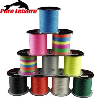 PureLeisure Super Fishing Line 8 Strands 300M Tresse Carpe PE Braided Wire 8 Stands 12LB 22LB 43LB 119LB 200LB Peche Accesoires