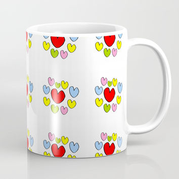 heart 3-heart,love,romantism,girl,sweet, women,romantic,cute,beauty,multicolor Mug by oldking