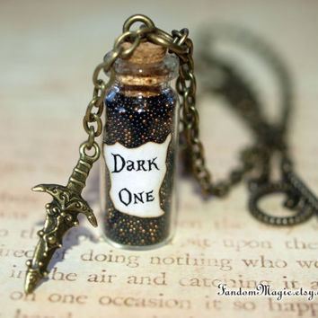 Dark One Magical Necklace with a Dagger Charm, ABC Television Show, Storybrooke, by Fandom Magic