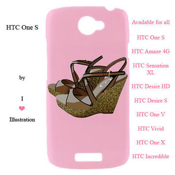 HTC Case - Pink Miu Miu Fashion Cover Design - available for htc one s, htc amaze 4 g,htc sensation xl, htc desire hd, htc desire s and more