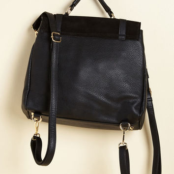 Stop, Rock, and Roll Convertible Bag in Black