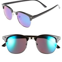 Men's Icon Eyewear 'Club' 54mm Retro Sunglasses - Black