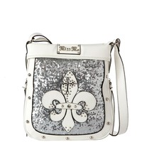 White Tina Glam Crossbody in White