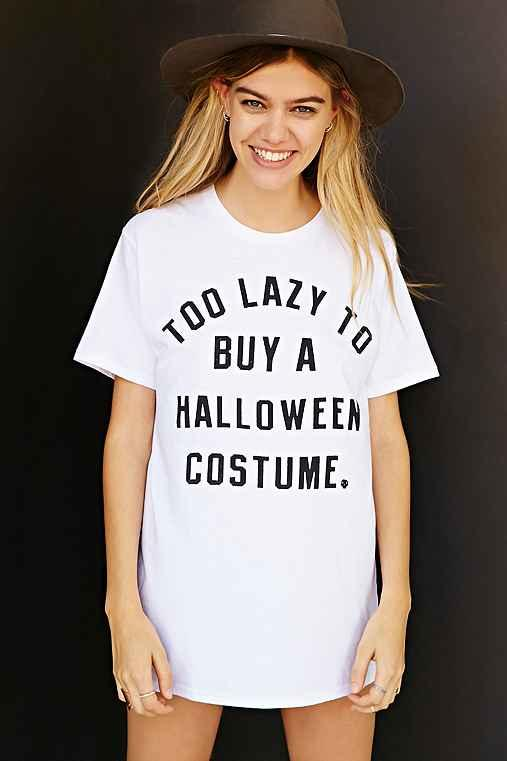 Too Lazy To Buy A Halloween Costume Tee- from Urban Outfitters