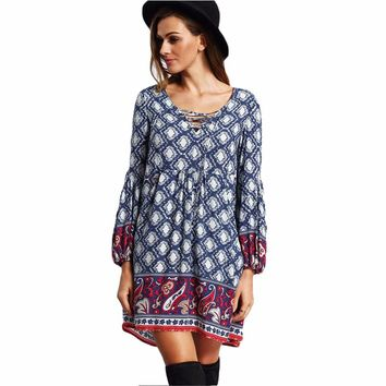 Mini Ladies Bohemian Dress