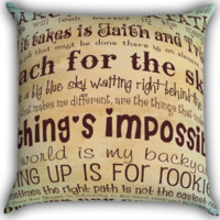 Disney Taught Me Quote Hakuna Zippered Pillows  Covers 16x16, 18x18, 20x20 Inches