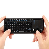 iClever 2.4G Mini Wireless Keyboard with Mouse Touchpad