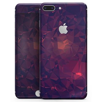 Red and Purple Geometric Triangles - Skin-kit for the iPhone 8 or 8 Plus