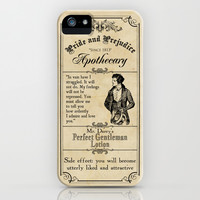 Pride & Prejudice Apothecary - Mr Darcy iPhone & iPod Case by VectoriaDesigns