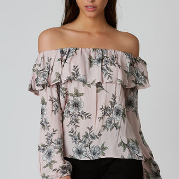 You Make Me Blush Off Shoulder Top