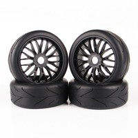 4pcs/set RC On-Road Tires Set Tyre & Wheel Rim Fit HSP HPI Traxxas 1:8 RC Buggy Car Toys Parts & Accessories