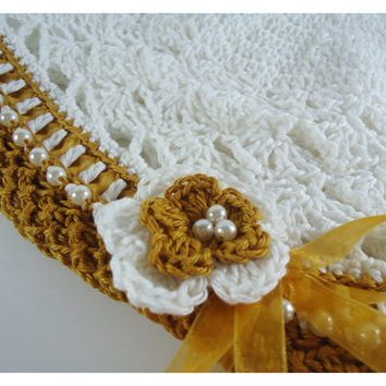 """Crochet hat, Baby beanie, girl hat, hat for girls, newborn hat, head accessories - 70's Inspiration- Up to adult 58cm (22"""")"""