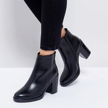 RAID Lorena Black Heeled Ankle Boots at asos.com