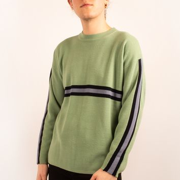 Crewneck Sweater with Stripes