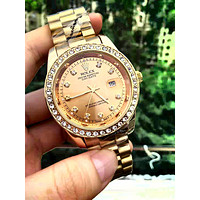 Free shipping-Rolex men and women tide brand simple fashion wild quartz watch