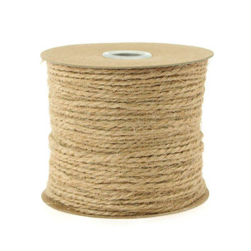 Jute Twine Cord Rope Ribbon, 1/16-inch, 100-yard, Natural