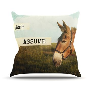"Catherine McDonald ""Don't Assume"" Throw Pillow"