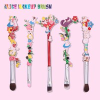 Luxury 5PCS/SET Makeup Brushes Set Alice in the Wonderland Garden Plant Cosmetic Professional Foundation Makeup Brushes Tool Kit
